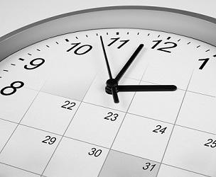 clock face and calendar